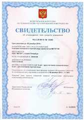 Свидетельство об утверждении типа средств измерений (МЕТЕР ВК)